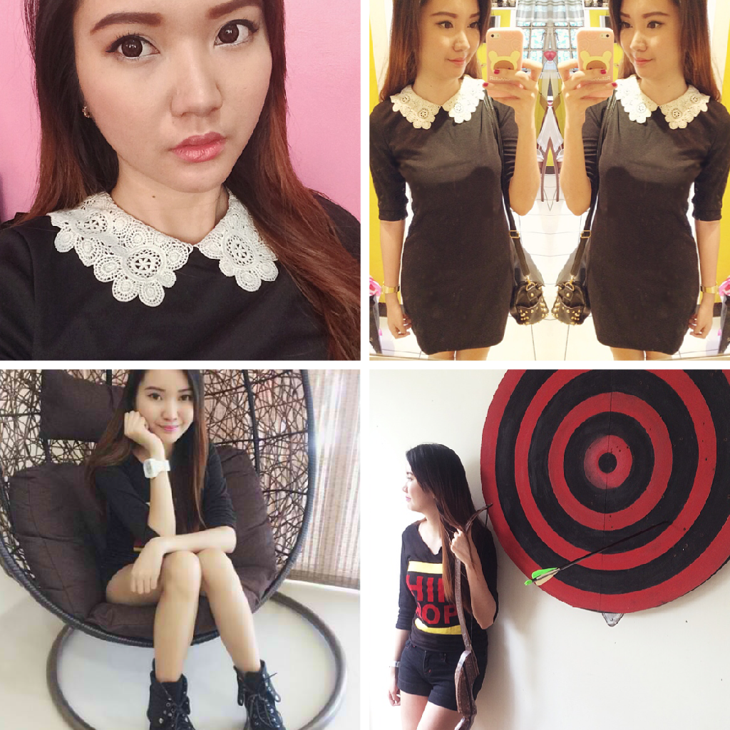 selfie asian ootd dress black persunmall bow and arrow selca misskatv blog fashion style review