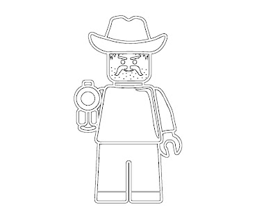 #12 Lego Coloring Page
