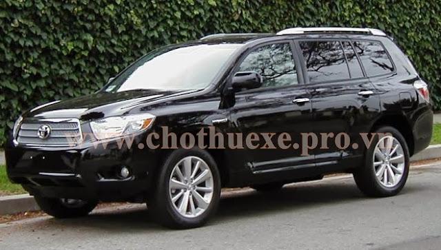 Cho thuê xe VIP 7 chỗ Toyota Highlander