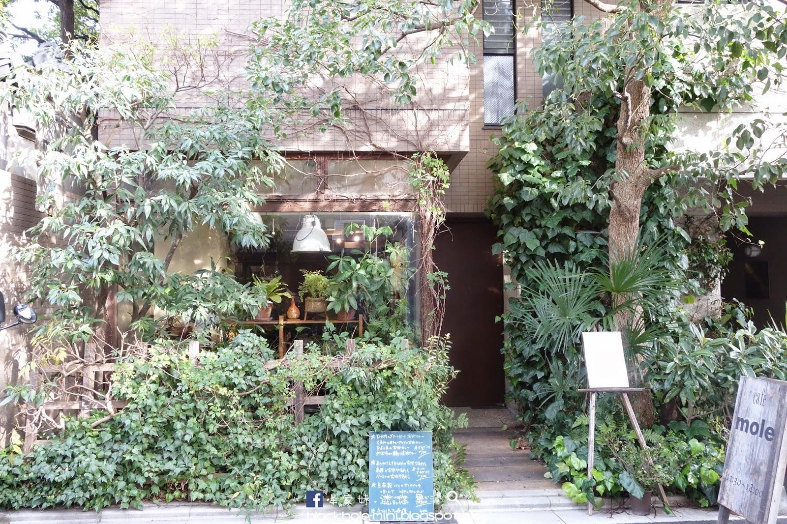 [日本.京都] 被花草包圍的咖啡店:カフェモールMOLE