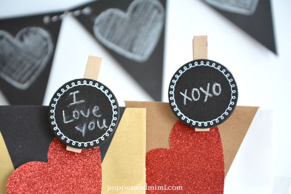 How cute are these chalkboard clothespins?!  @target #OneSpotValentine by @americancrafts