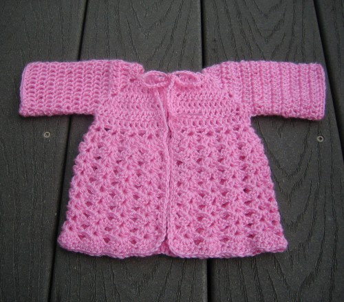 Preemie Angel Shell Sweater - Free Pattern