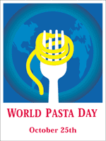 World Pasta Day banner, October 25