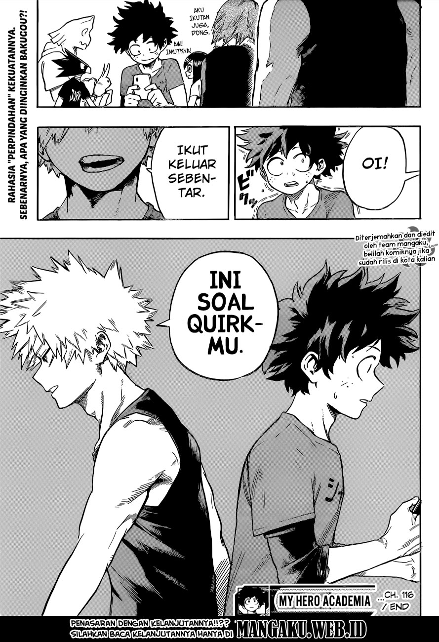 Boku no Hero Academia Chapter 116-17