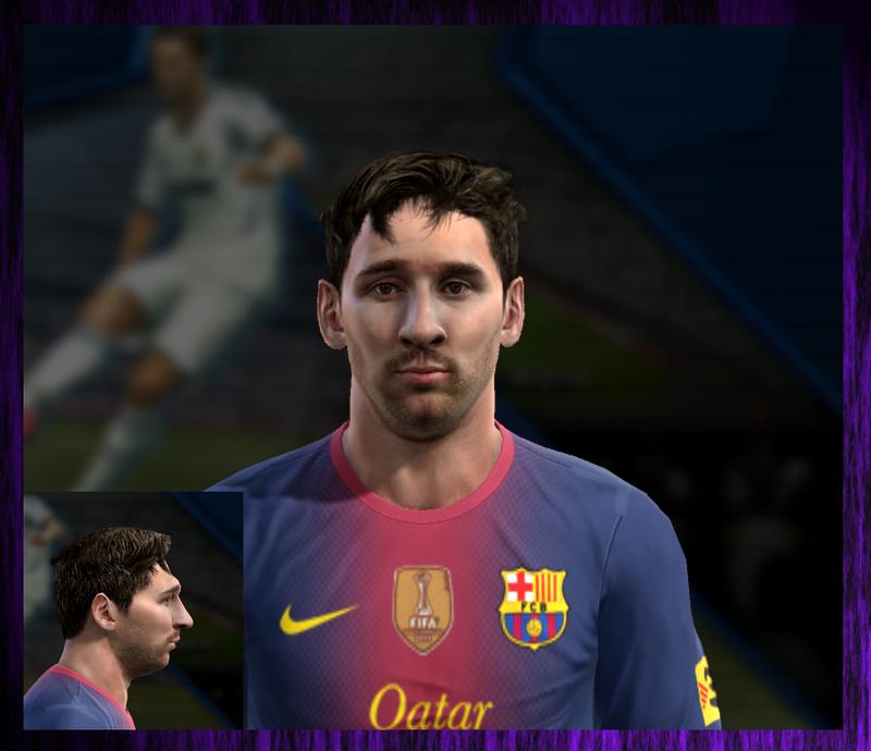 Lionel Andrés Messi Face - PES 2013