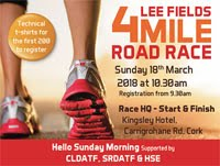 4 mile race in Cork City...Sun 18th Mar 2018...CANCELLED