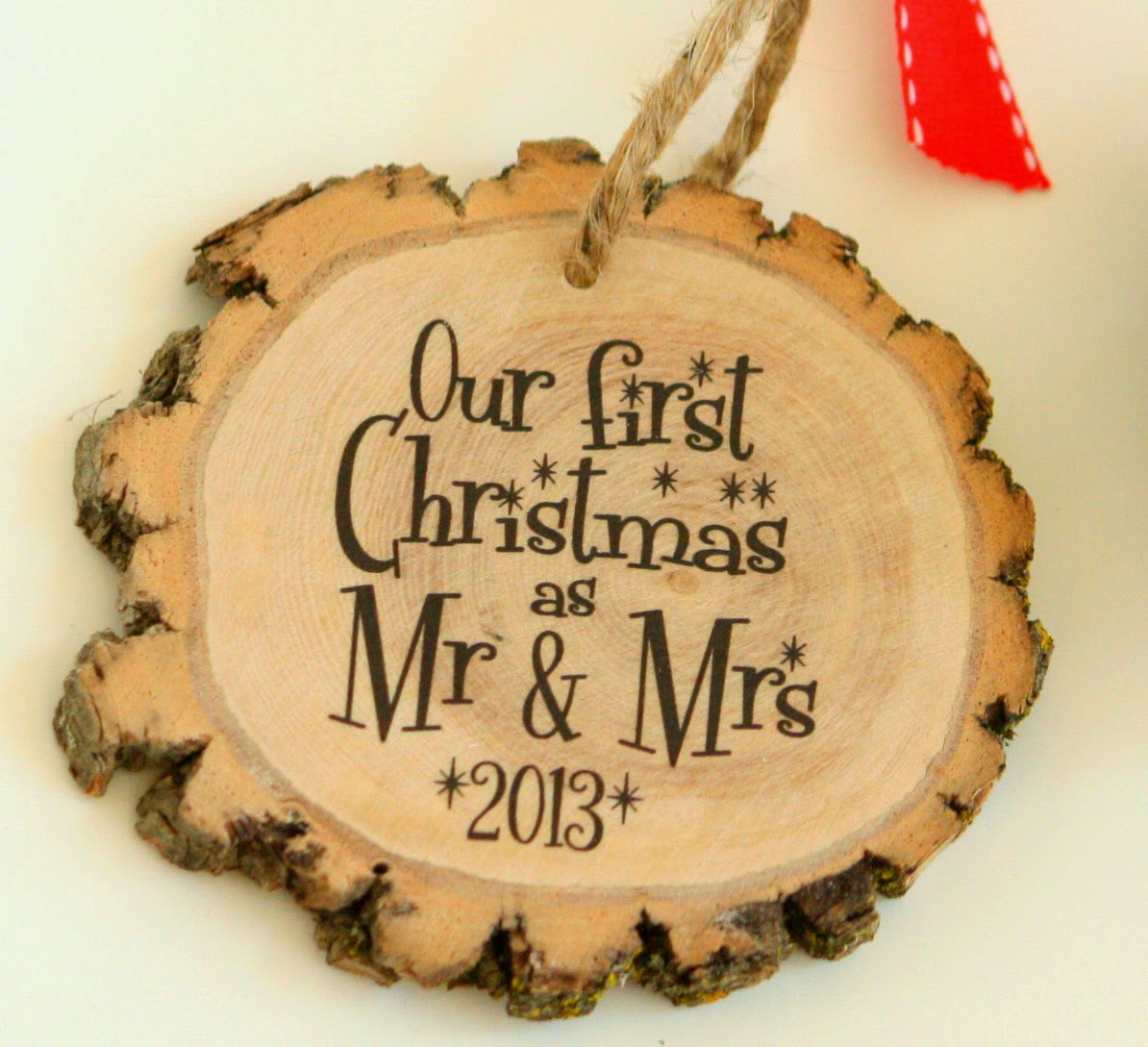 Our First Christmas as Mr & Mrs - NEW Modern Christmas Ornament