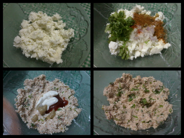 Bread Paneer Roll - Kid's Special-Preparation