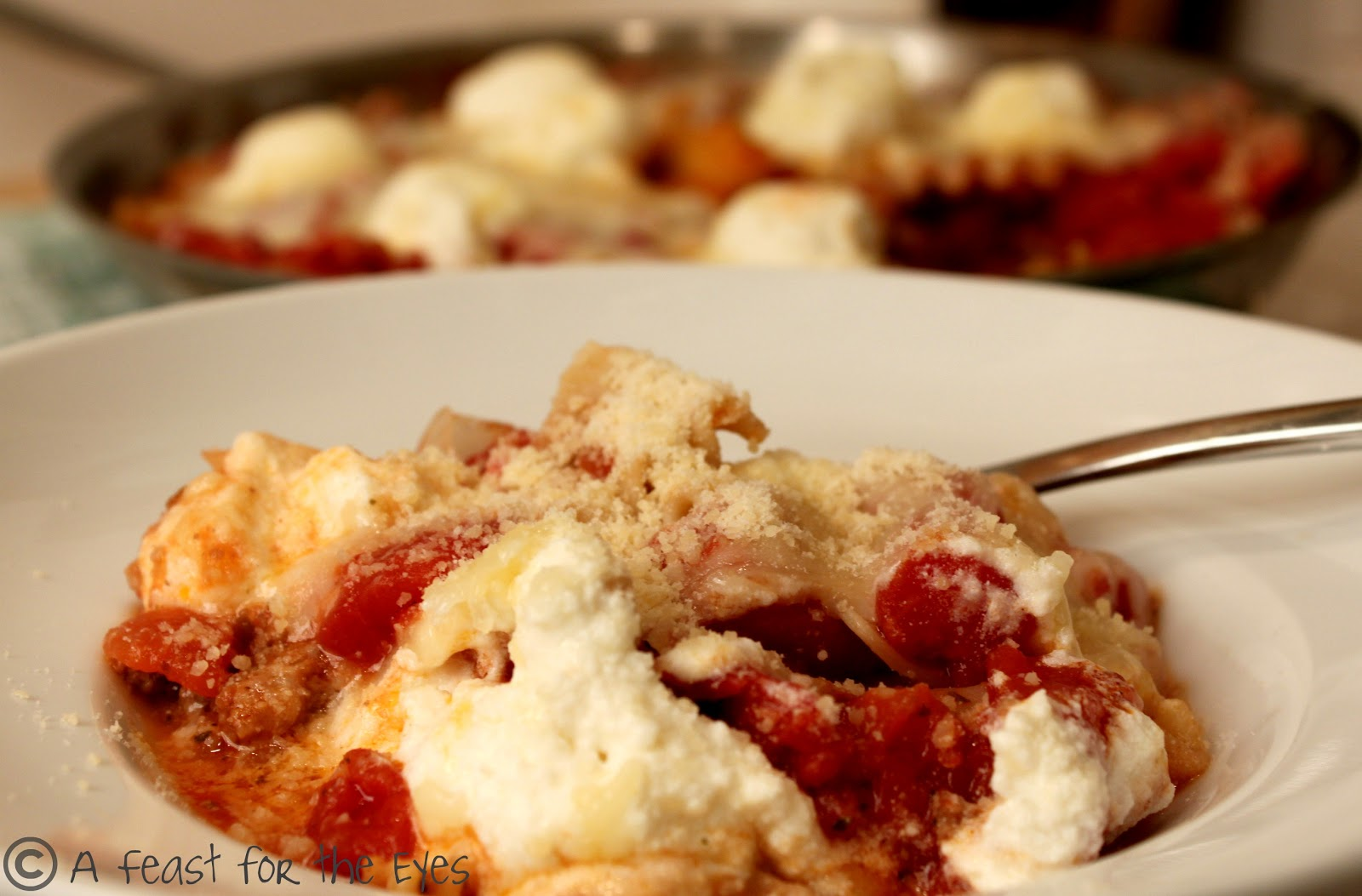 A Feast For The Eyes Skillet Lasagna In A Flash