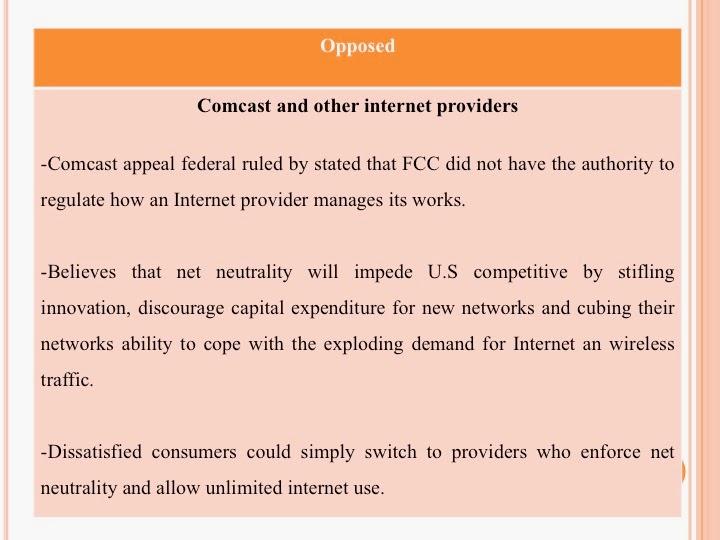 The battle over net neutrality case study