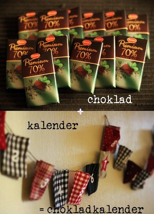 chokladkalender, adventskalender, paketkalender