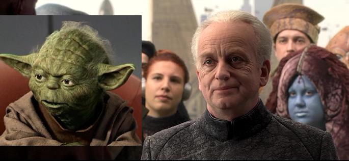 image palpatine et Yoda
