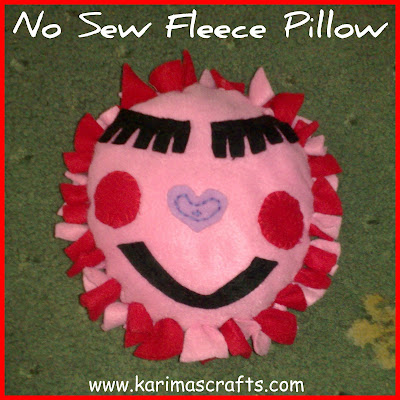 new sew fleece pillow