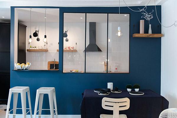 Cuisine Bleu Canard. Beautiful Cuisine Bleu Canard Cuisine Beige Et ...