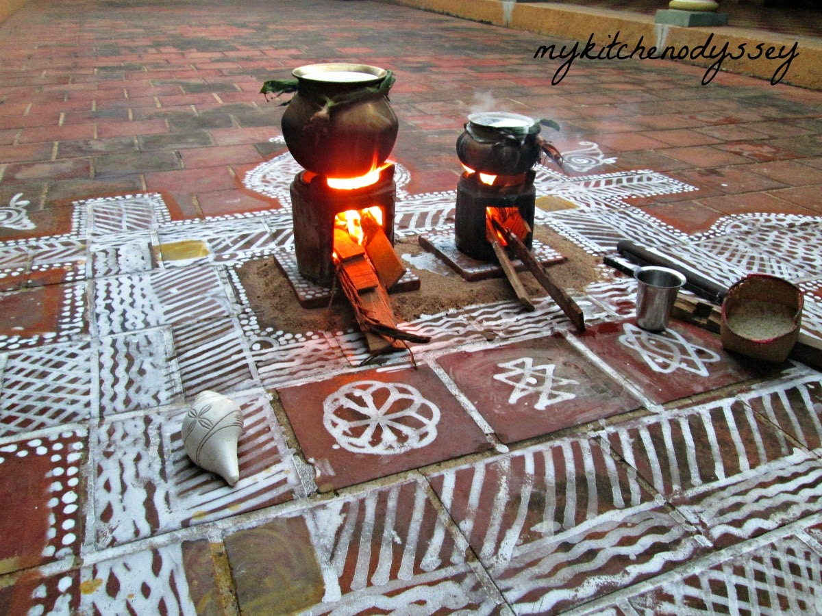 traditional stove for pongal festival