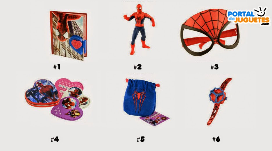 juguetes the amazing spiderman 2 happy meal mcdonalds nombres