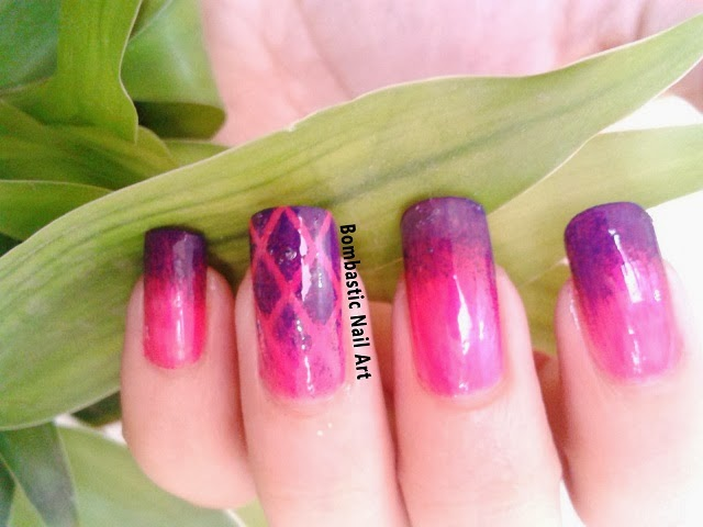Day 11: Pink Purple Ombre Nails – Bombastic Nail Art