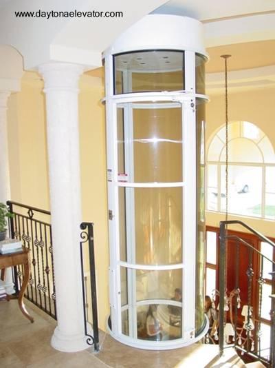 Elevador doméstico de tubo cilíndrico