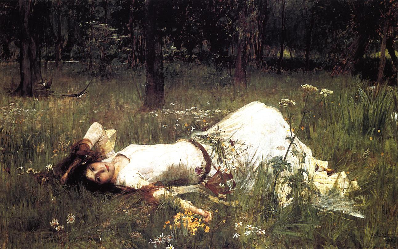 Waterhouse John+William+Waterhouse+-+Ophelia+Resting