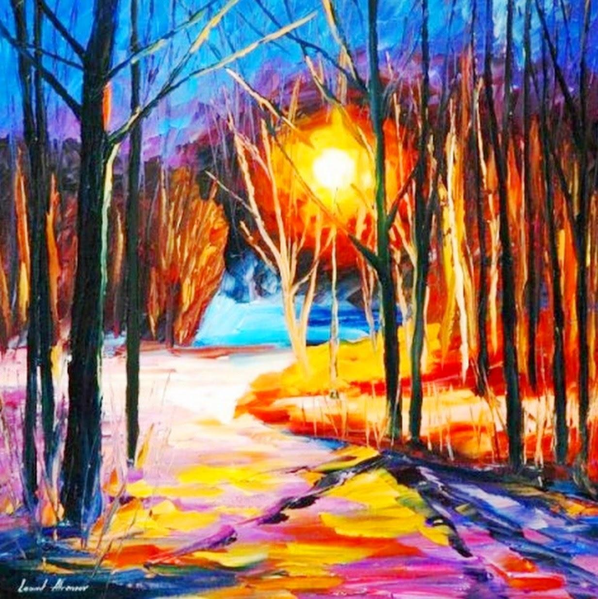 imagenes-de-pinturas-espatula-paisajes