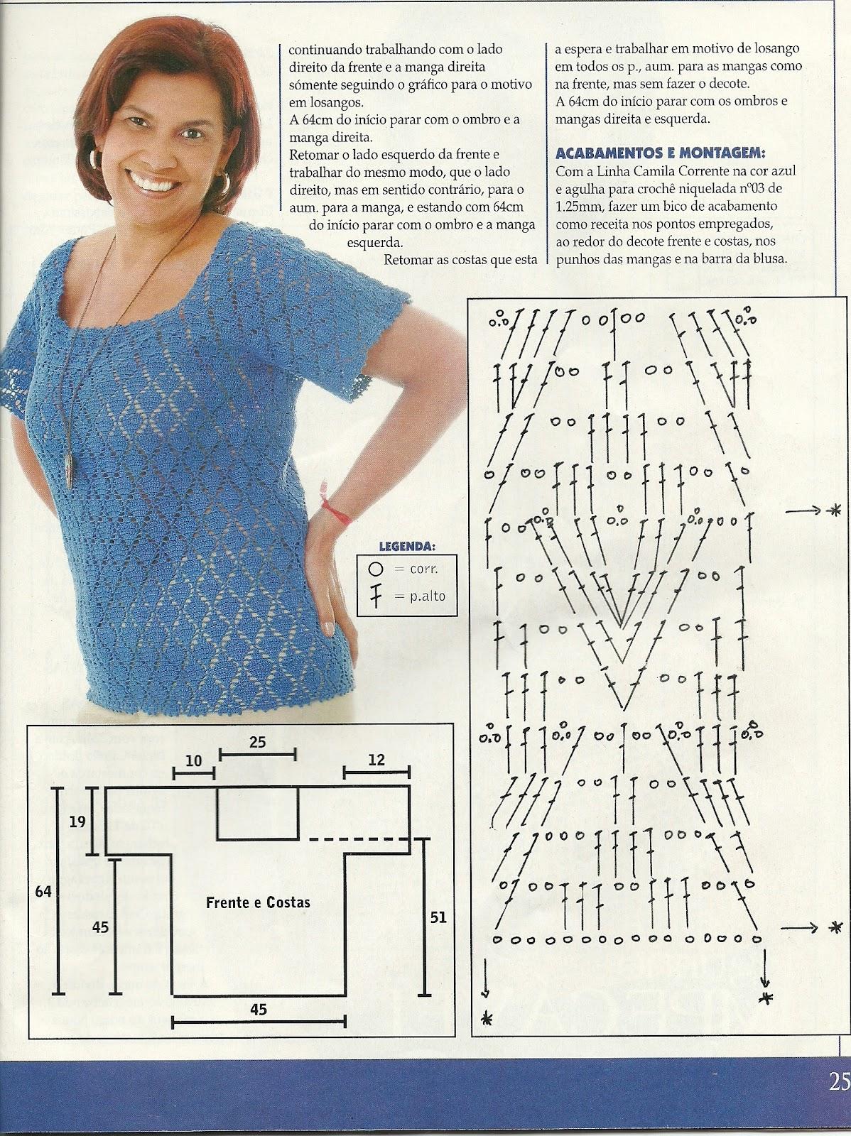 Вязание крючком для полных женщин со схемами 81