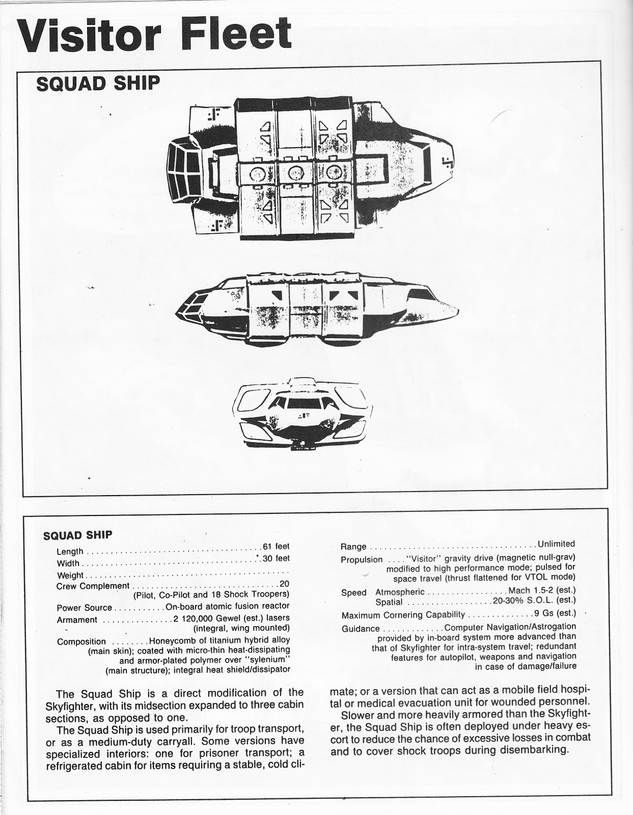 starlogged geek media again 1985 v the visitor technical rh starlogged blogspot com Army Technical Manuals technical information manual for sika carbodur