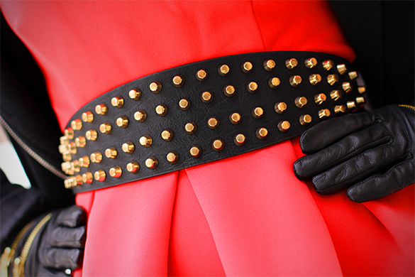Zara studded leather belt