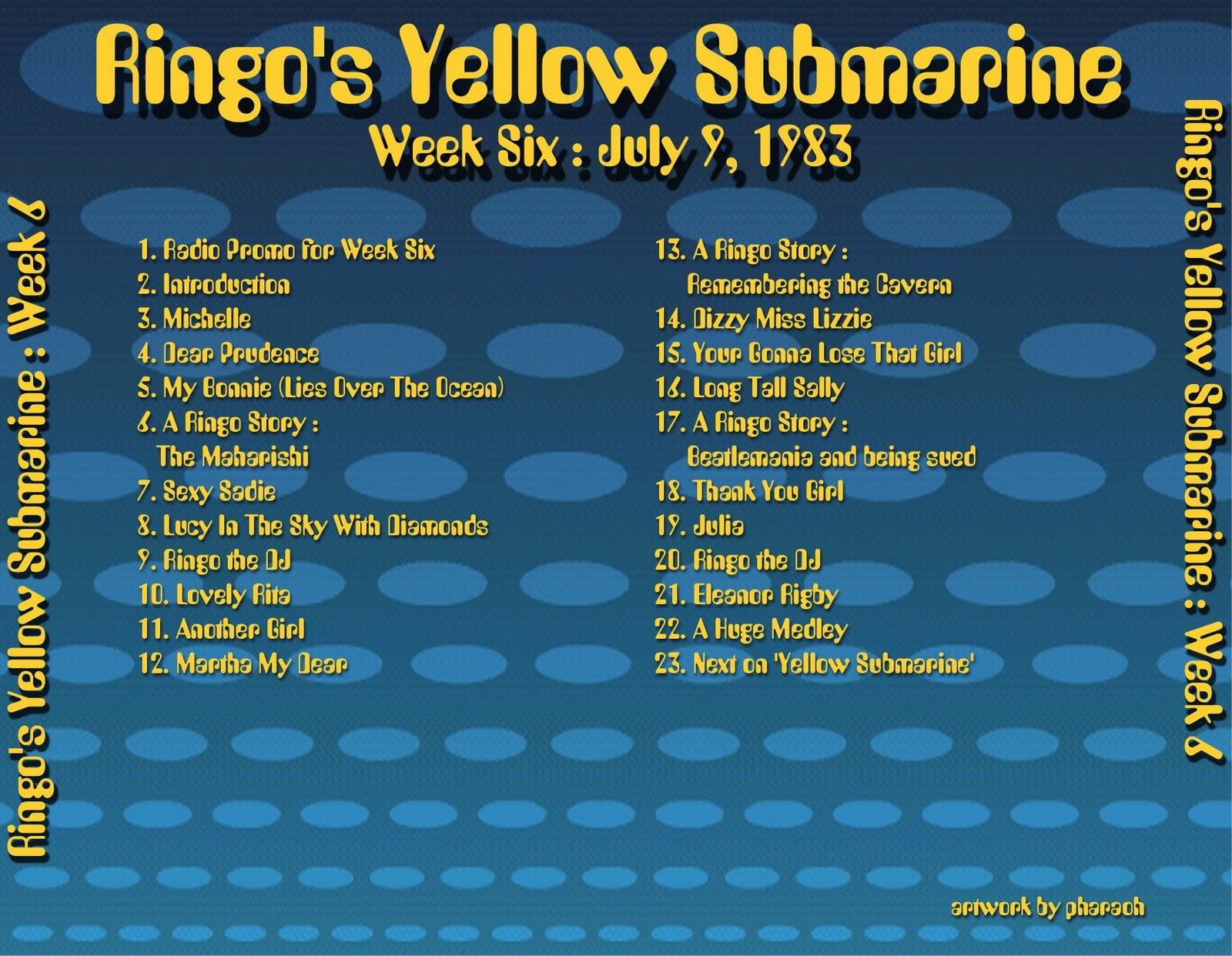 Beatles Radio Waves: 1983 07 09 Ringo's Yellow Submarine 06 #B99A12 1600 1242