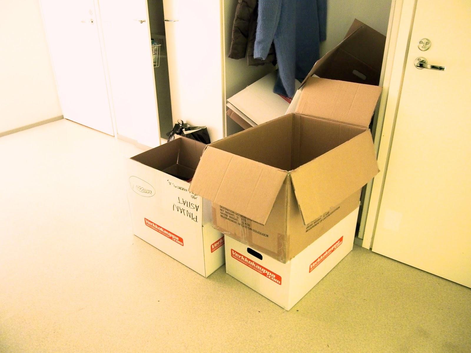 Muuttolaatikoiden pakkaaminen ja purkaminen järkevästi ja tehokkaasti. Organisoi muutto.