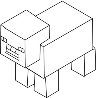 meus desenhos desenho porco minecraft
