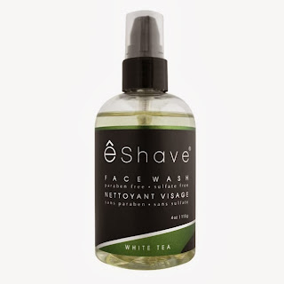 eShave's White Tea Face Wash- a gentle option