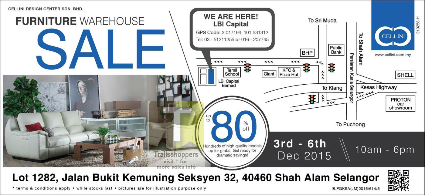 Cellini Furniture Warehouse Sale 2015 malaysia