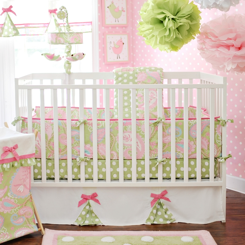 Sprinkle me pink blog diy creations adorable new girls nursery bedding and accessories from - Modern baby girl crib bedding ...