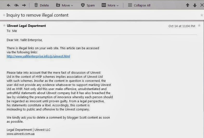 I recieved a strange email??????????