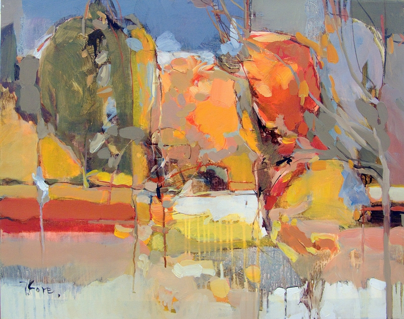 Josef Kote 1964 | Albanian Abstract painter | Vibrant colors