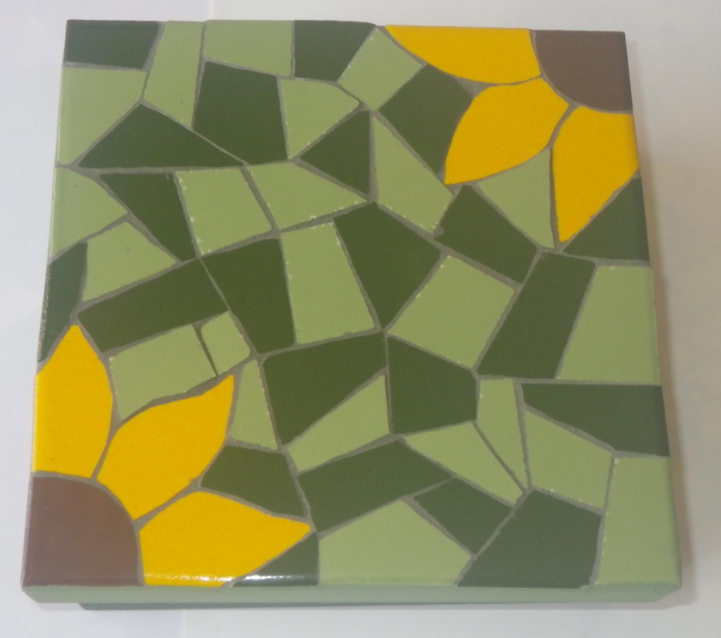Trabalhos em mosaico caixas em mosaico de girassol for Mosaico ceramica