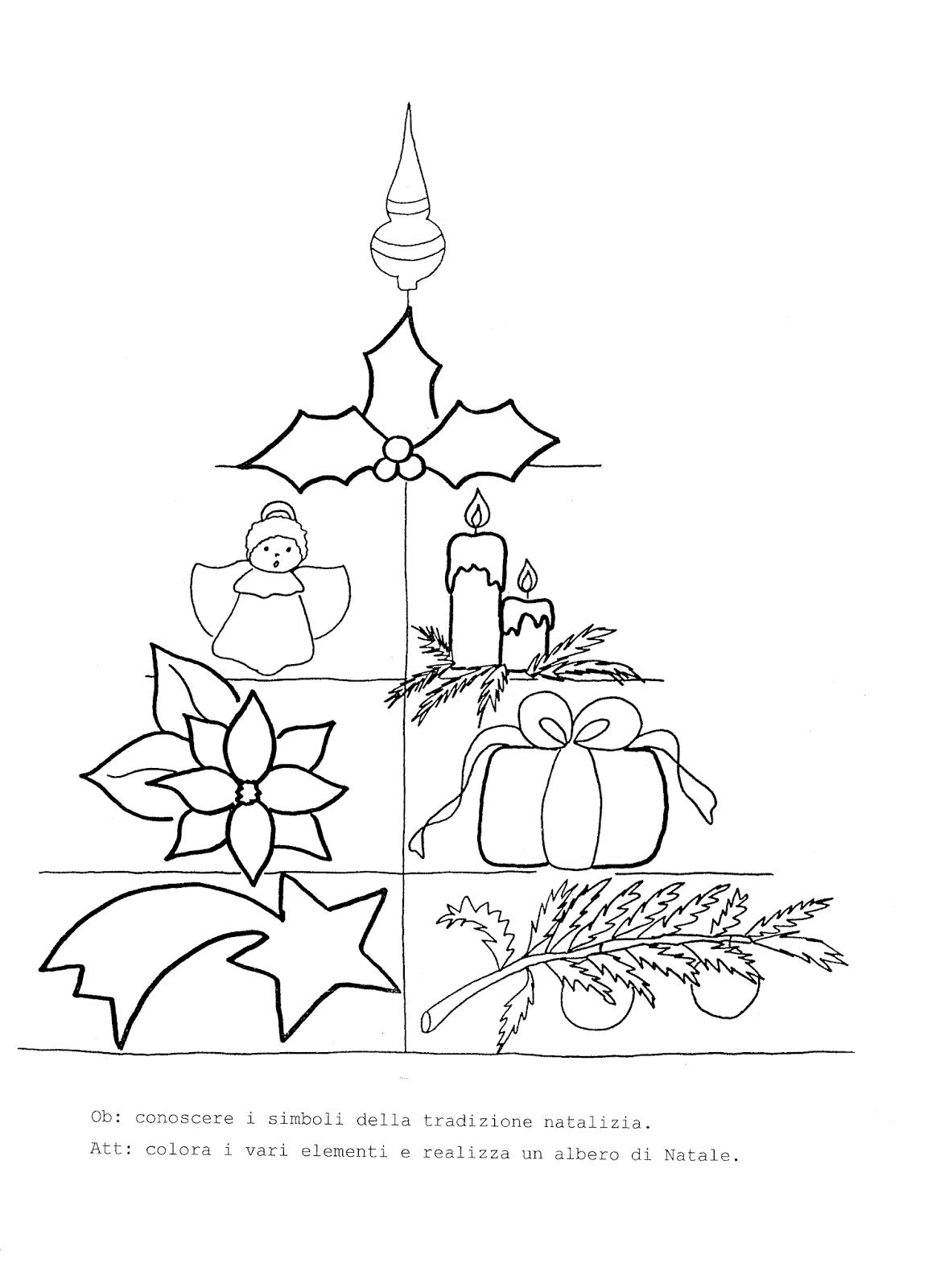 La maestra linda schede natale da colorare l 39 albero for Schede didattiche natale maestra mary