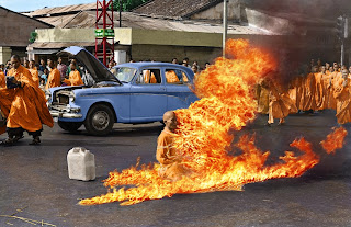 Bonze monk Thich Quang Duc protests in Vietnam
