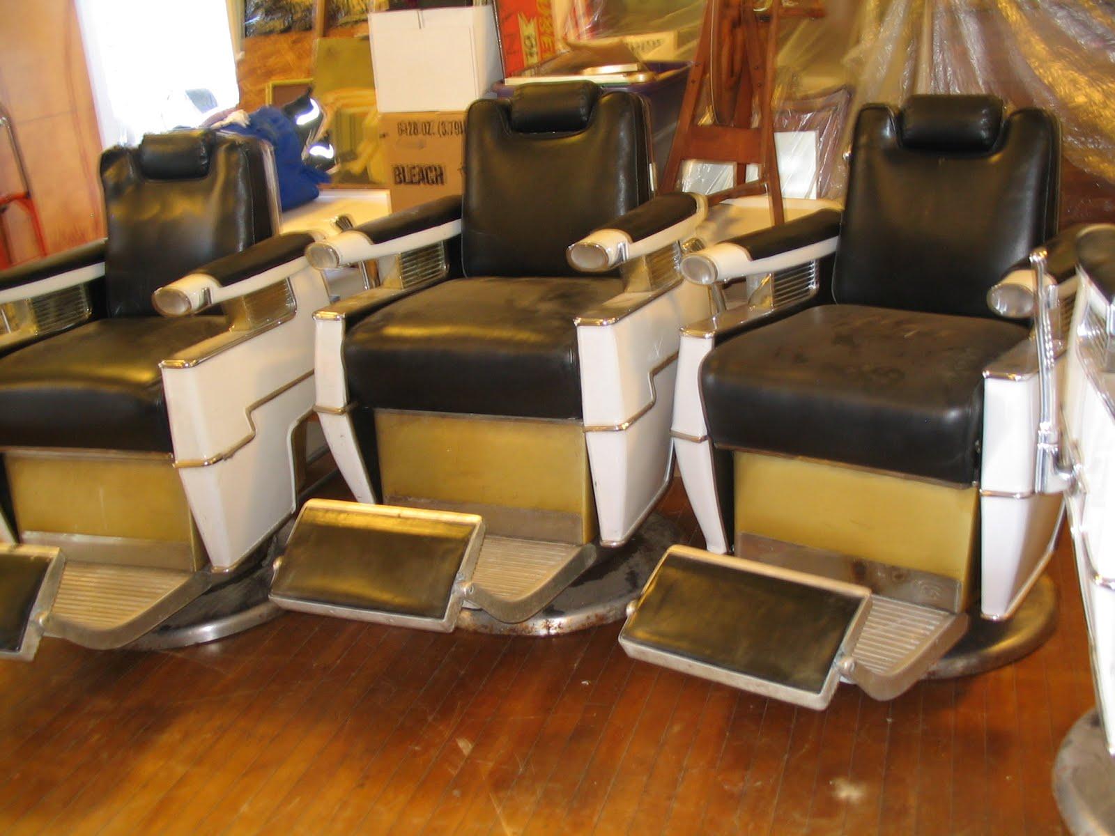 Pasternak Antiques u0026 Modern Design * 5 vintage belmont barber chairs ( + one )* & Pasternak Antiques u0026 Modern Design: * 5 vintage belmont barber ...