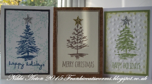 just a quick post today to share some very quick cards i made using tim holtz scribbly christmas stamp set so handy for little cards and tags