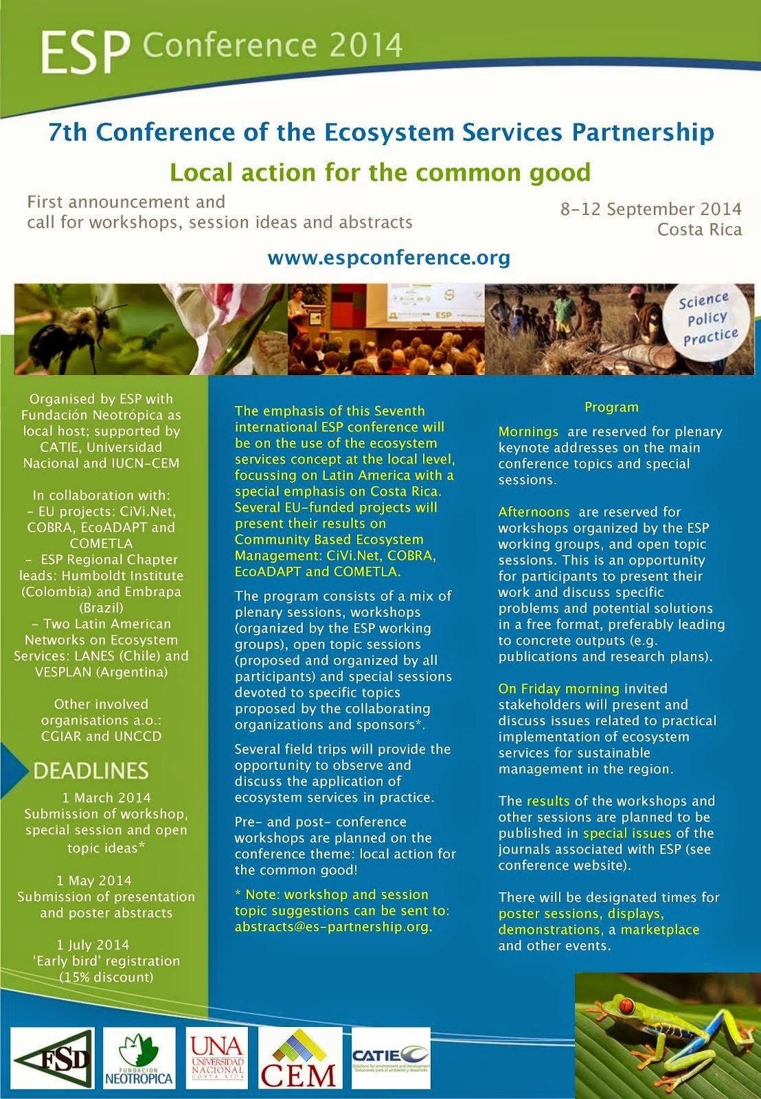 Announcement: 7th International Conference of the Ecosystem Services Partnership