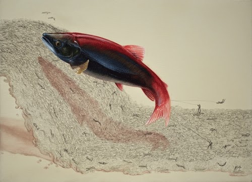 16-Swimming-Upstream-Ricardo-Solis-Animal-Paintings-and-their-Back-Story-www-designstack-co