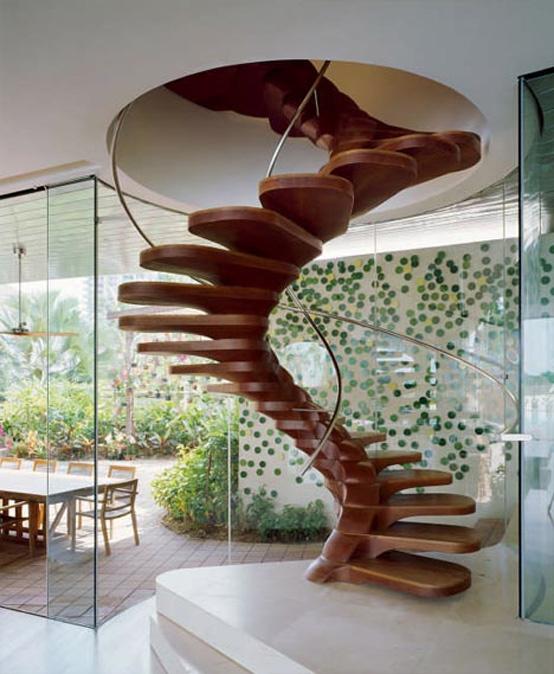 Decoracion actual de moda escaleras tipo caracol - Escalera caracol de madera ...
