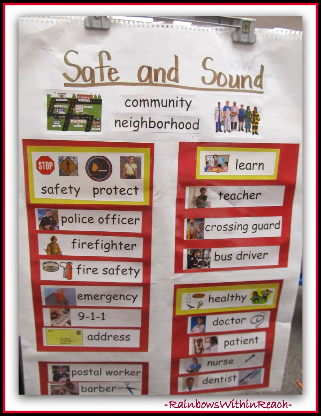 Anchor Chart for Community Helpers at RainbowsWithinReach via SimplyKinder