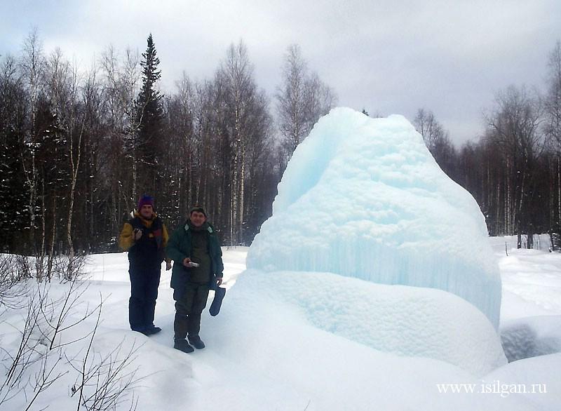 """Ледяной фонтан 2007. Национальный парк """"Зюраткуль"""". Челябинская область"""