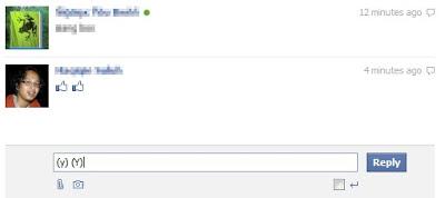 Make Facebook Chat Emoticons Like / Thumb Up