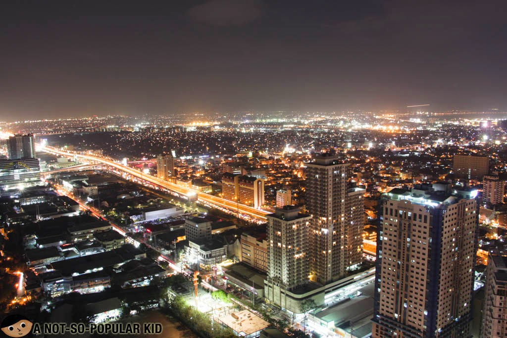 Skyline view of Makati City from the roof deck of The Beacon