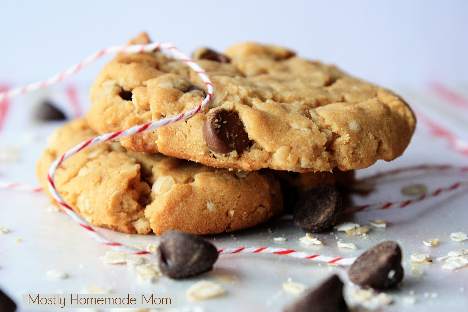 Oatmeal Peanut Butter Chocolate Chip Cookies | Mostly Homemade Mom