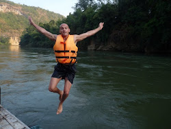 Taking the plunge on the River Kwai