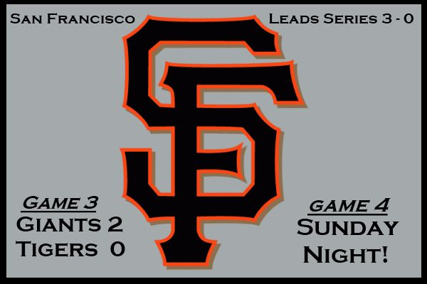 The San Francisco Giants beat the Detroit Tigers 2-0 in game three of the world series.